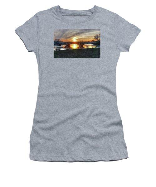 Weeks Bridge At Sunset Women's T-Shirt