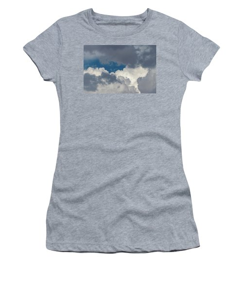 White And Gray Clouds Women's T-Shirt