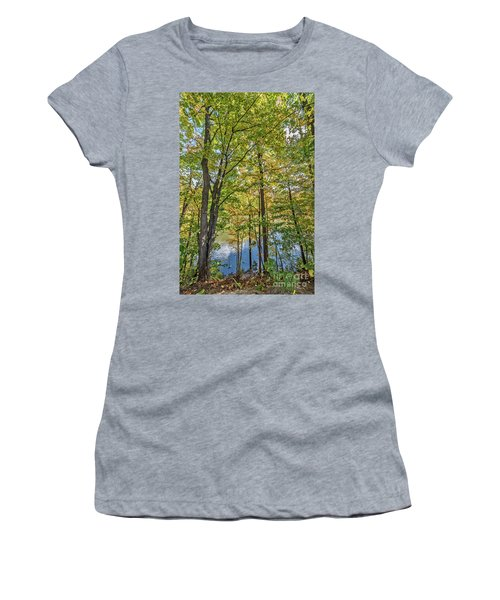 White Clouds Reflected In Rippling Water Women's T-Shirt