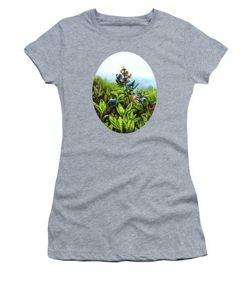 Wild Maine Blueberries  Women's T-Shirt