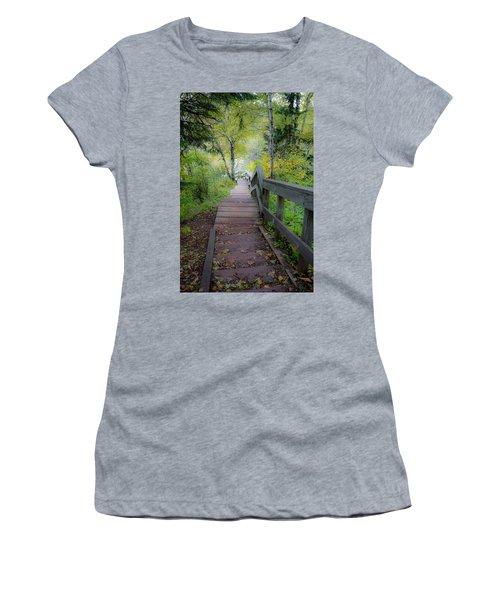 Winding Stairs In Autumn Women's T-Shirt