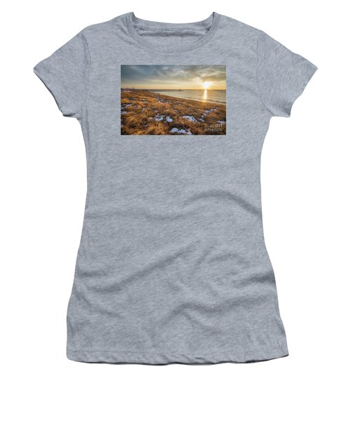 Winter Dunegrass At Sunset Women's T-Shirt
