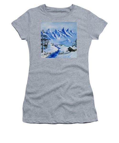 Winter In The Rockies Women's T-Shirt