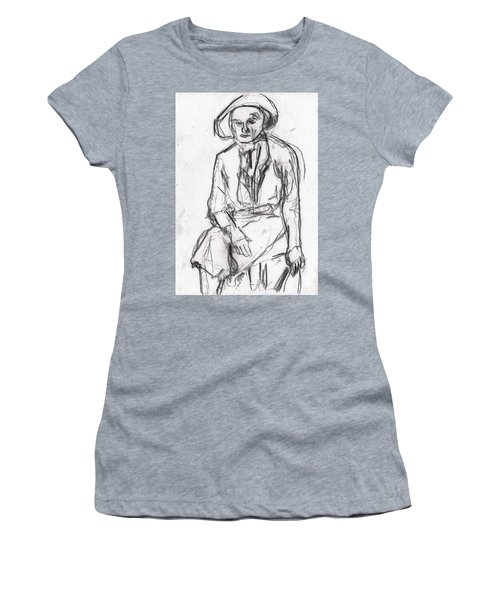 Woman In A Hat Drawing Women's T-Shirt