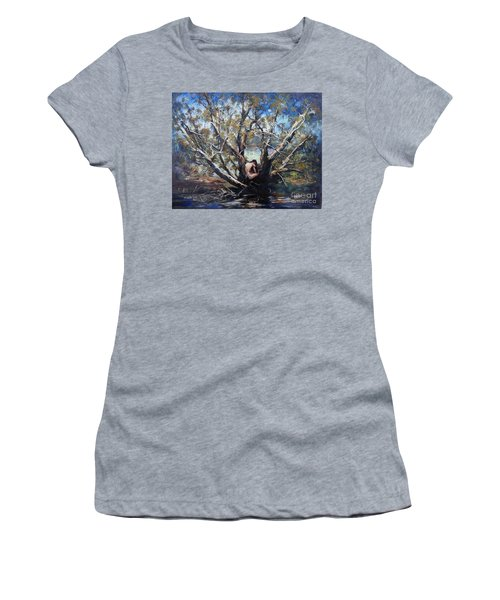 Women's T-Shirt featuring the painting Wood Nymph by Ryn Shell
