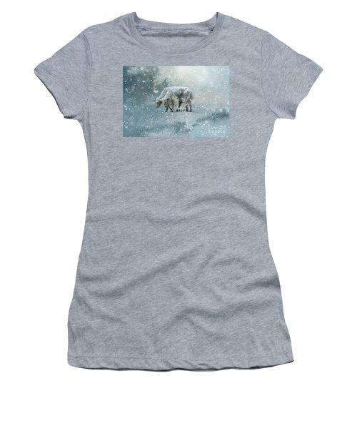 Yaks Calves In A Snowstorm Women's T-Shirt