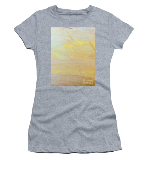 Women's T-Shirt featuring the painting Yellow #2 by Maria Langgle