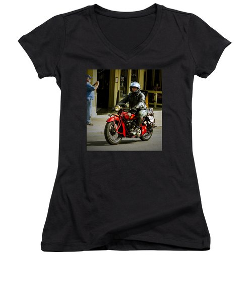 # 70 Rolls In To Cape G'. Women's V-Neck