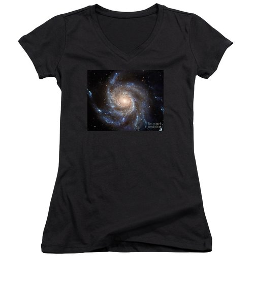 Messier 101 Women's V-Neck T-Shirt (Junior Cut) by Barbara McMahon