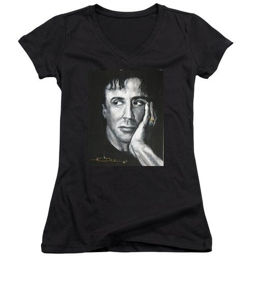 Sylvester Stallone Women's V-Neck