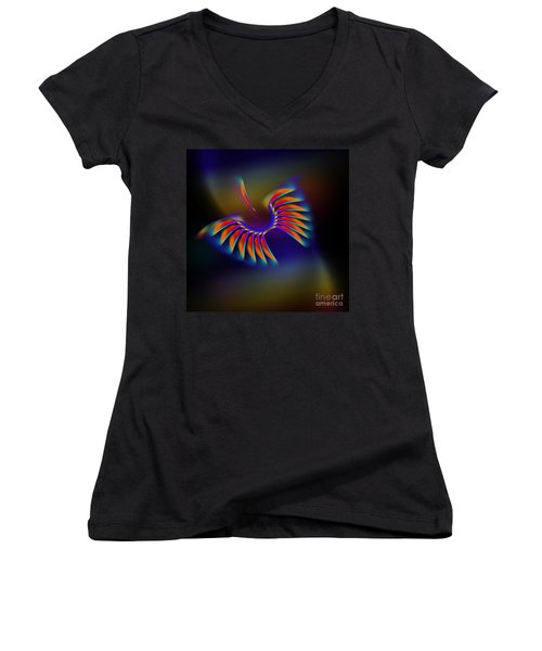 Terrestrial Flight Women's V-Neck (Athletic Fit)