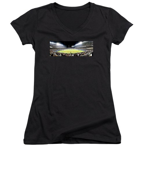 0856 Soldier Field Panoramic Women's V-Neck
