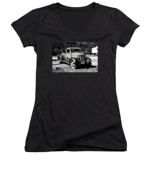 1937 Chevy Wrecker Women's V-Neck T-Shirt (Junior Cut) by Paul Mashburn