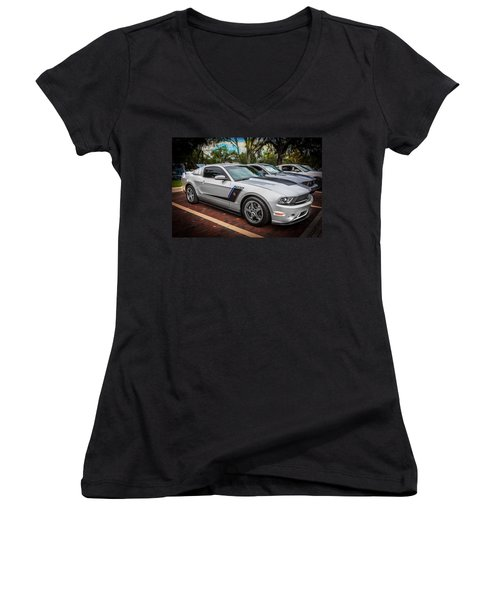 2012 Ford Roush Stage 3 Mustang Rs3 Painted  Women's V-Neck (Athletic Fit)