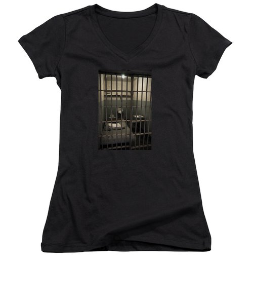A Cell In Alcatraz Prison Women's V-Neck
