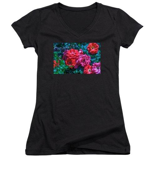 A Rose Is A Rose Women's V-Neck T-Shirt
