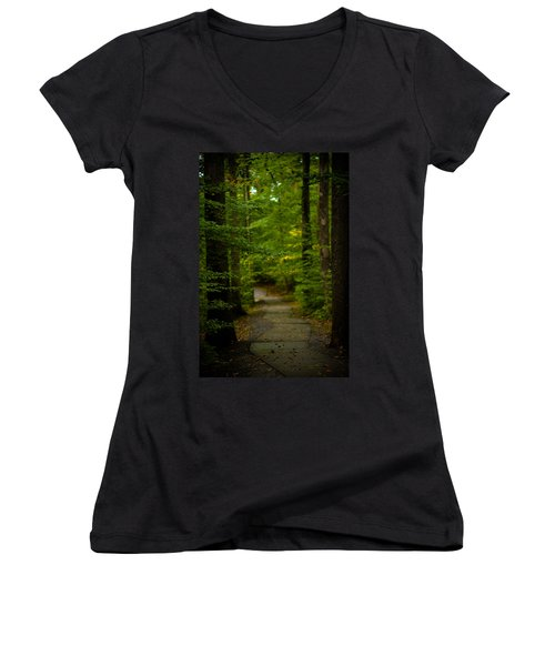 A Walk In The Woods Women's V-Neck (Athletic Fit)