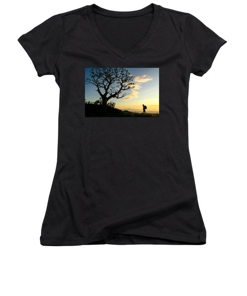Approaching Summit Women's V-Neck T-Shirt
