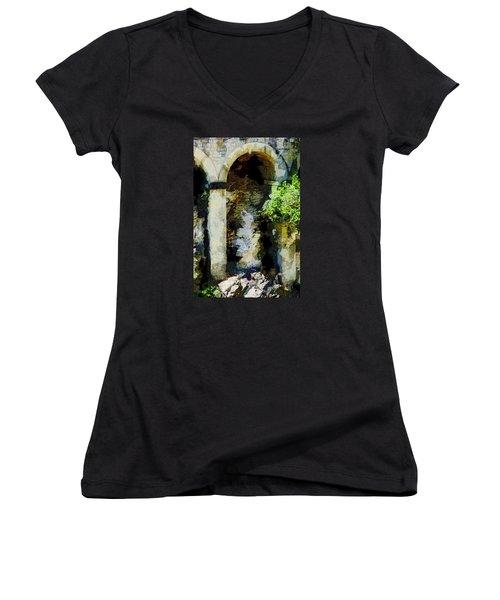 Arches Women's V-Neck T-Shirt (Junior Cut) by John Stuart Webbstock