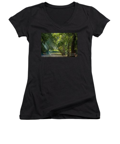 Beautiful Morning Women's V-Neck T-Shirt (Junior Cut) by Kiran Joshi