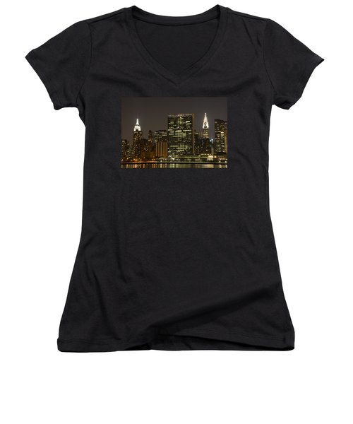 Beauty Of The Night Women's V-Neck