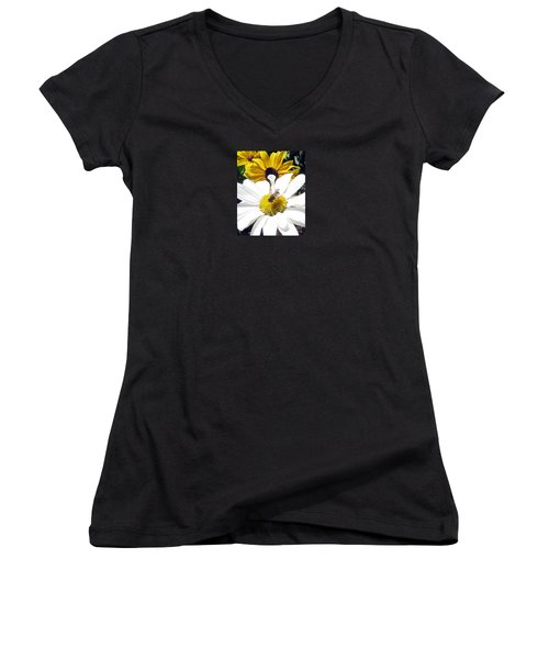 Beecause Women's V-Neck T-Shirt (Junior Cut) by Janice Westerberg