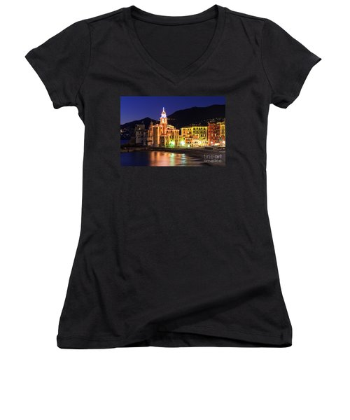 Camogli At Evening Women's V-Neck (Athletic Fit)