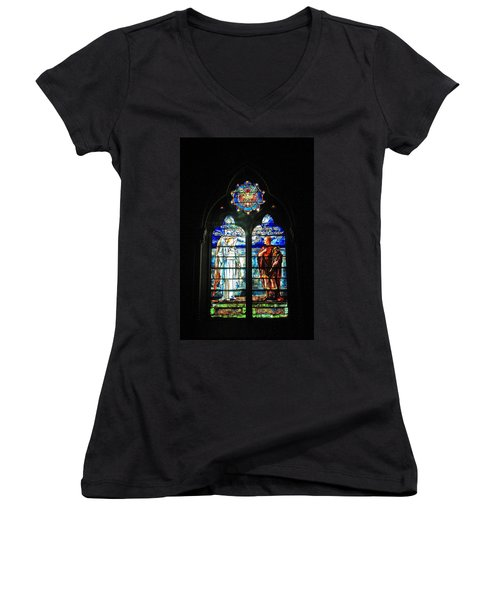 Church Of The Covenant Stained Glass 11 Women's V-Neck (Athletic Fit)