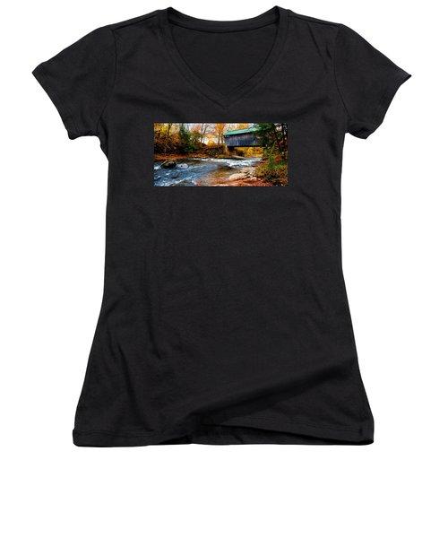 Covered Bridge Women's V-Neck T-Shirt