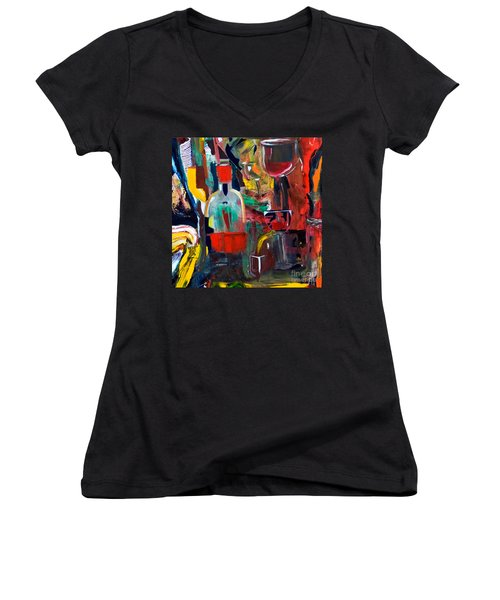 Cut IIi Wine Woman And Music Women's V-Neck