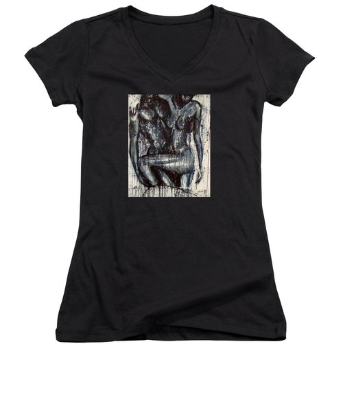 Drop Dead Casanova Women's V-Neck T-Shirt (Junior Cut) by Jarmo Korhonen aka Jarko