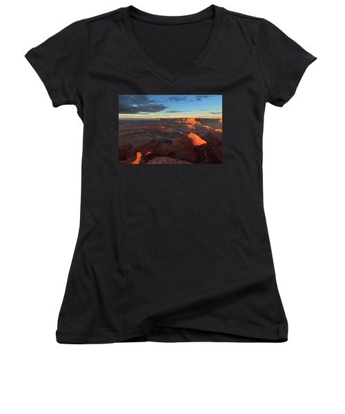 Early Morning At Dead Horse Point Women's V-Neck (Athletic Fit)