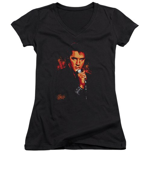 Elvis - Trouble Women's V-Neck T-Shirt (Junior Cut)