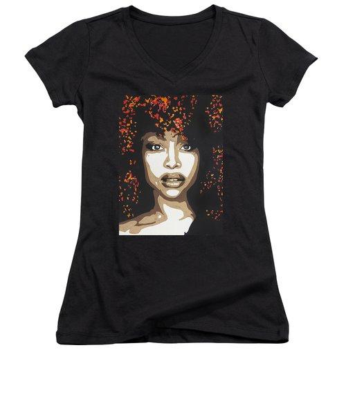 Erykah Women's V-Neck T-Shirt