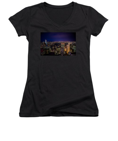 Field Of Lights And Magic Women's V-Neck