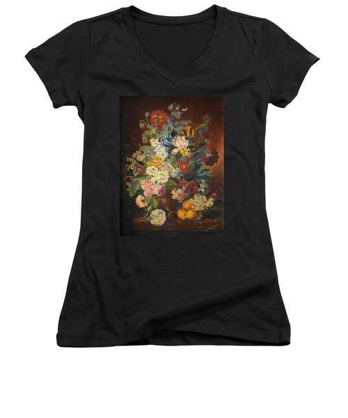 Flowers Of Light Women's V-Neck T-Shirt (Junior Cut)