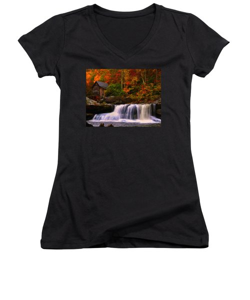 Glade Creek Grist Mill Women's V-Neck T-Shirt