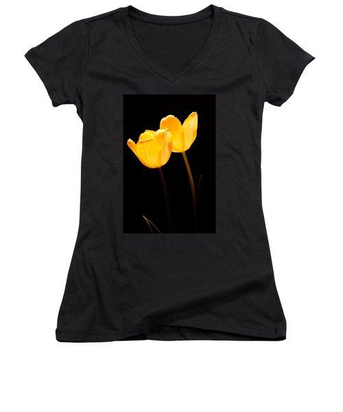 Glowing Tulips II Women's V-Neck