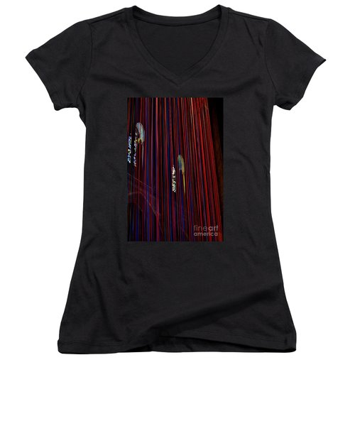 Grace Cathedral With Ribbons Women's V-Neck T-Shirt