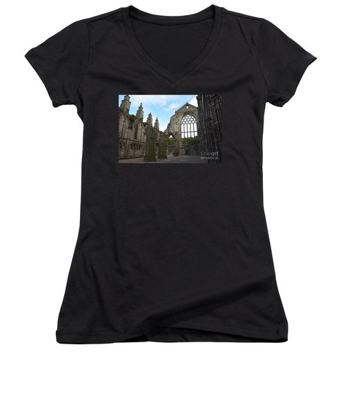 Holyrood Abbey Ruins Women's V-Neck T-Shirt