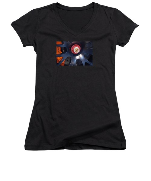 Hybrid Wheel  Women's V-Neck T-Shirt (Junior Cut) by John Schneider