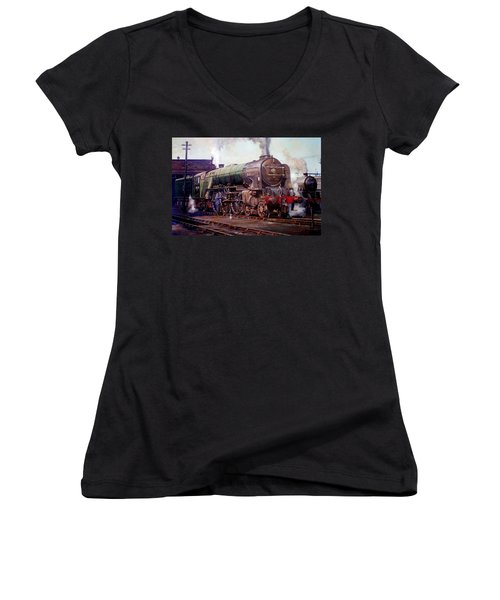 Peppercorn Pacific Kenilworth On Shed. Women's V-Neck T-Shirt