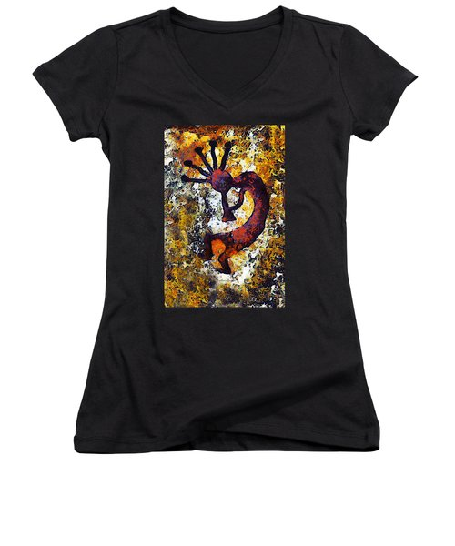Kokopelli The Flute Player Women's V-Neck