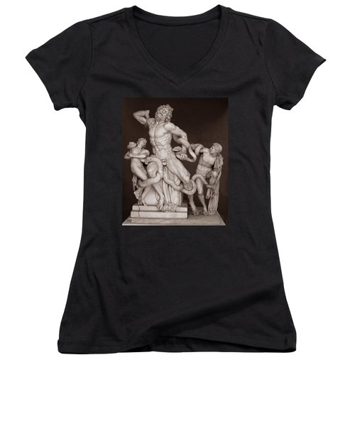 Laocoon And His Sons Women's V-Neck
