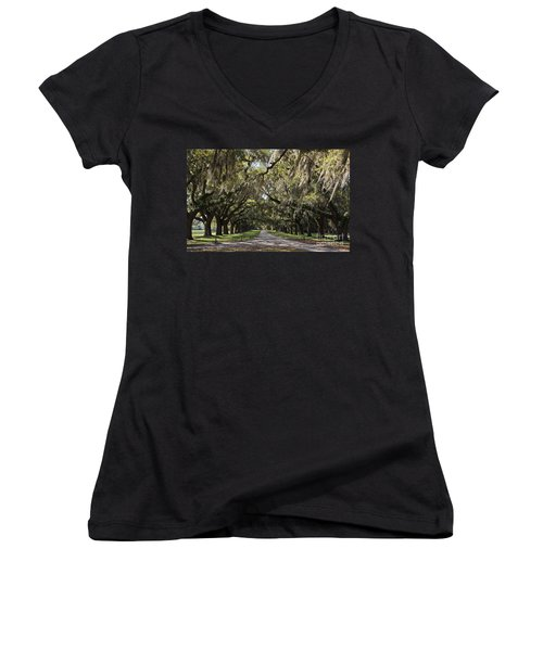 Live Oaks Women's V-Neck (Athletic Fit)