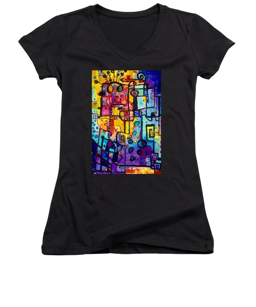 Lost Papers And Urban Plans Women's V-Neck