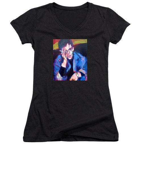 Lou Reed Women's V-Neck T-Shirt