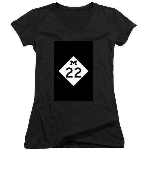 M 22 Women's V-Neck (Athletic Fit)