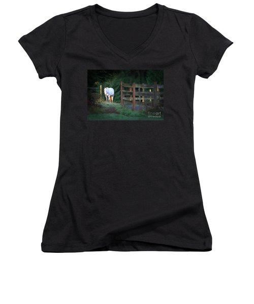 Self Assurance Women's V-Neck T-Shirt (Junior Cut) by Michelle Twohig