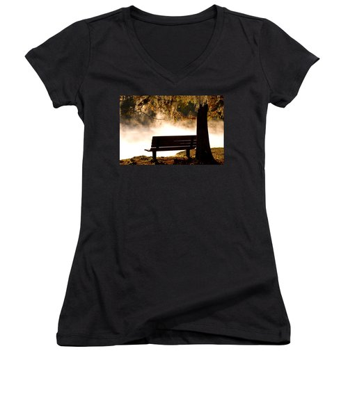 Morning Mist At The Spring Women's V-Neck (Athletic Fit)